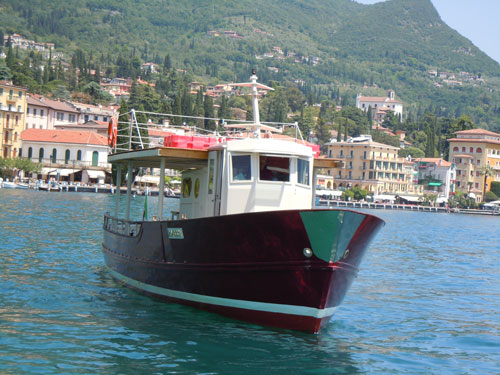 Motor ship on Garda lake