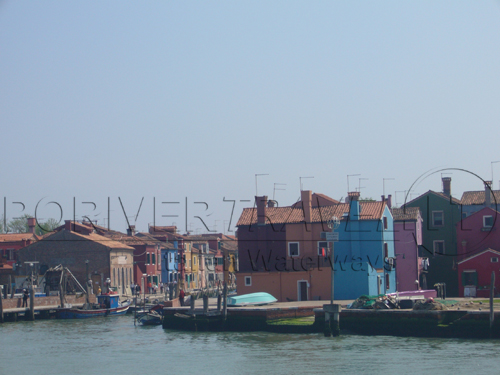 Island of Burano in the Venetian Lagoon