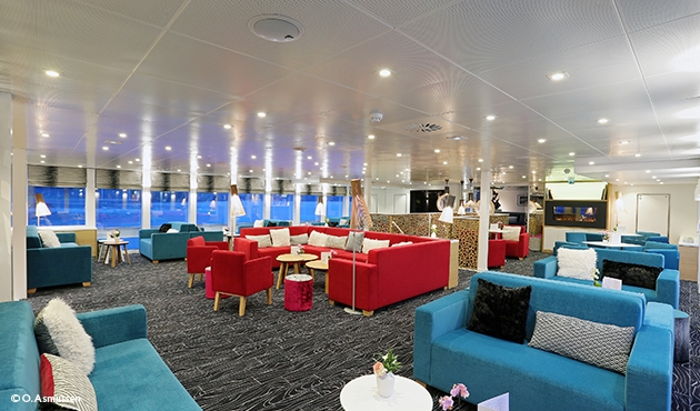 Sala bar nave Elbe Princesse premium porivertral
